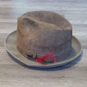 Vintage London Fog walking fedora hat, sz 7 1/4